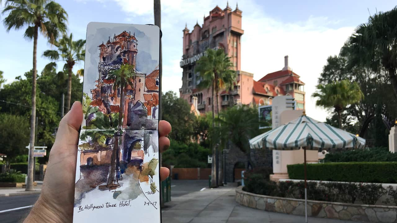 The Twilight Zone Tower of Terror - Sketches from the Park series