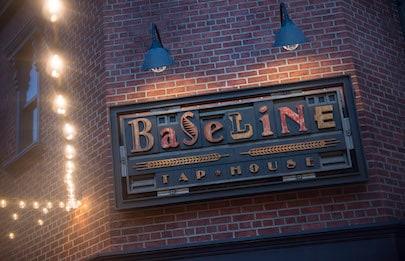BaseLine Tap House Signage