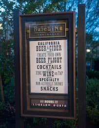BaseLine Tap House Outdoor Menu