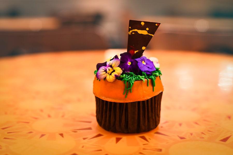 Flower Pot Cupcake from Sunshine Seasons, a Vanilla Cupcake with Peanut Butter at the International Food & Wine Festival at Walt Disney World Resort