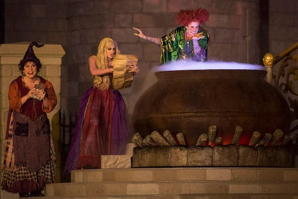 'Hocus Pocus Villain Spelltacular' Show during Mickey's Not-So-Scary Halloween Party Walt Disney World Special Events