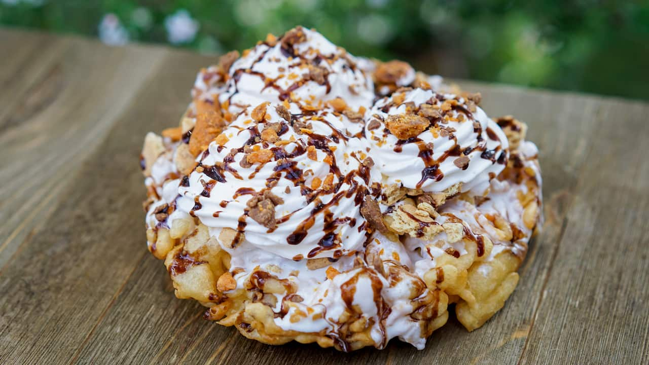 Stage Door Café S'more Funnel Cake at Disneyland Park