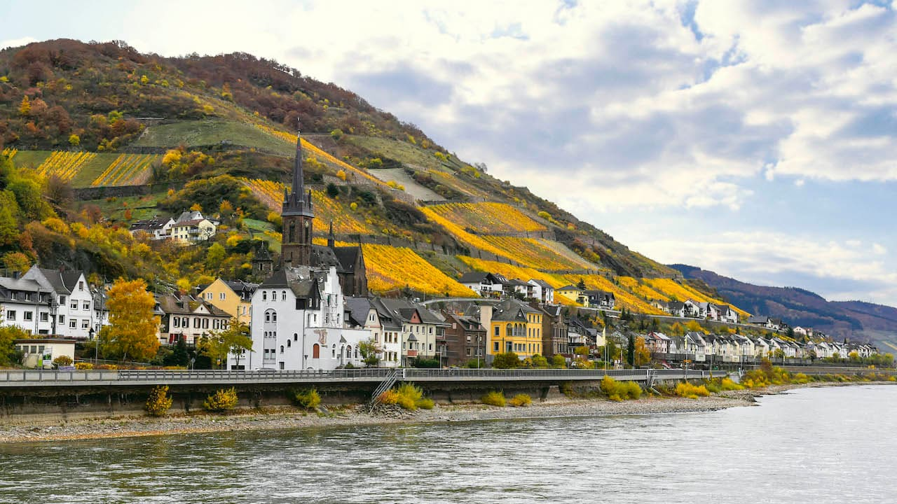Majestic views along the Rhine River on Adventures by Disney Rhine River Cruise