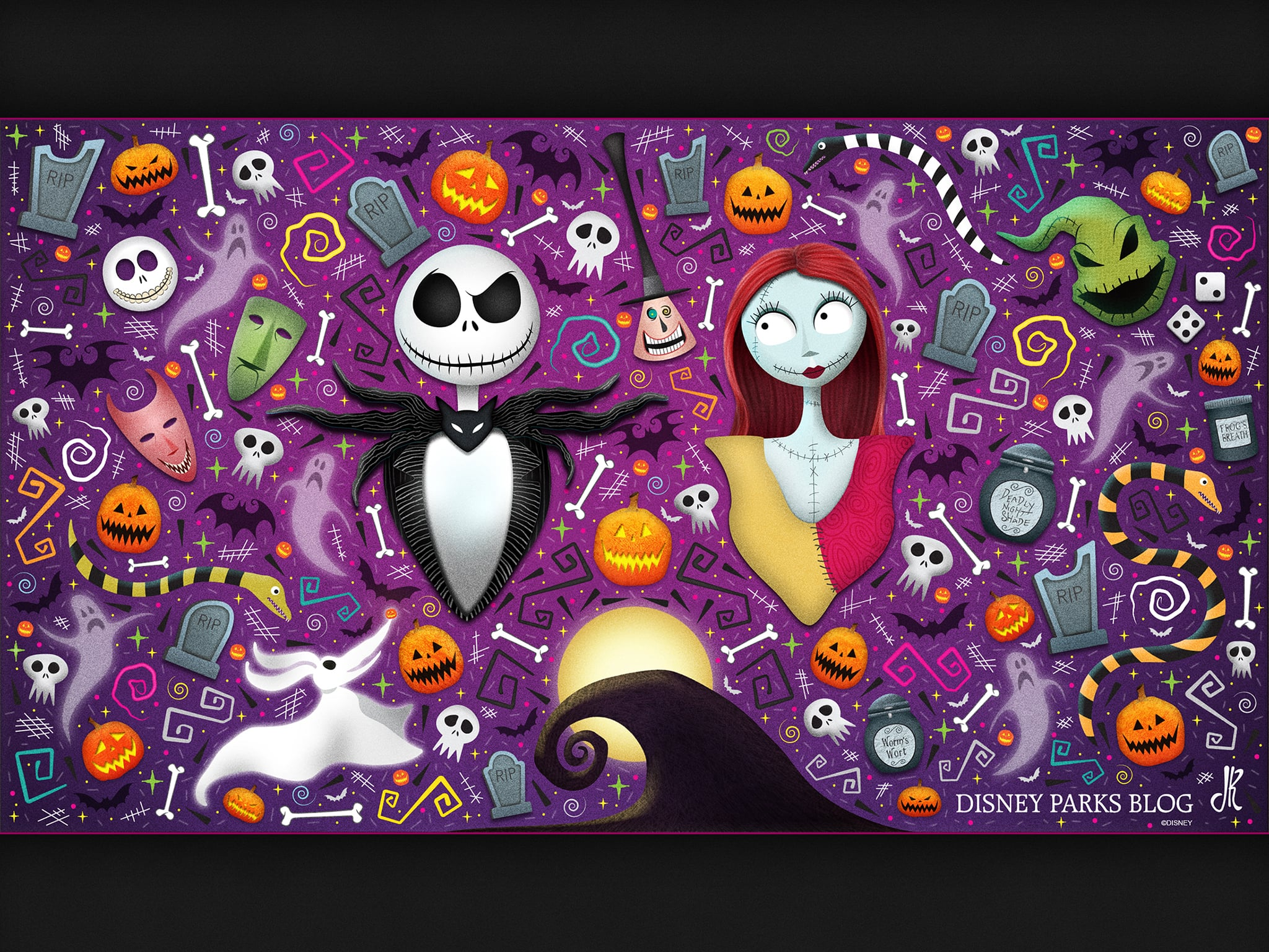 Desktop Wallpaper WonderFALLDisney Halloween 1024x768