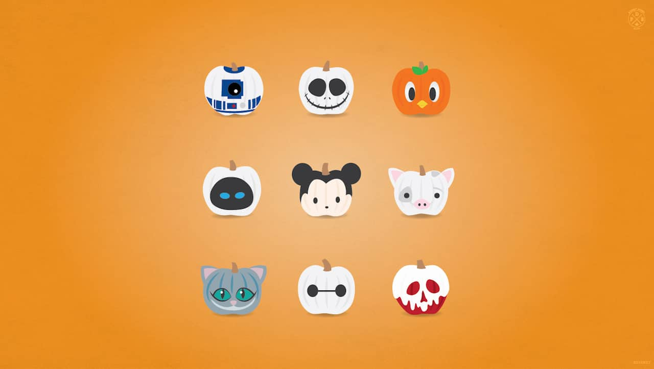 Celebrate Halloween With Our Disney Characters Wallpaper