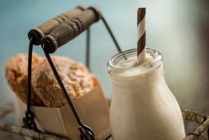 """Pumpkin Milkshake and Almond Cookies at Disney's Wilderness Lodge""""]"""