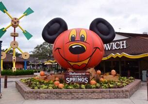 Mickey Pumpkin Photo Op at Disney Springs