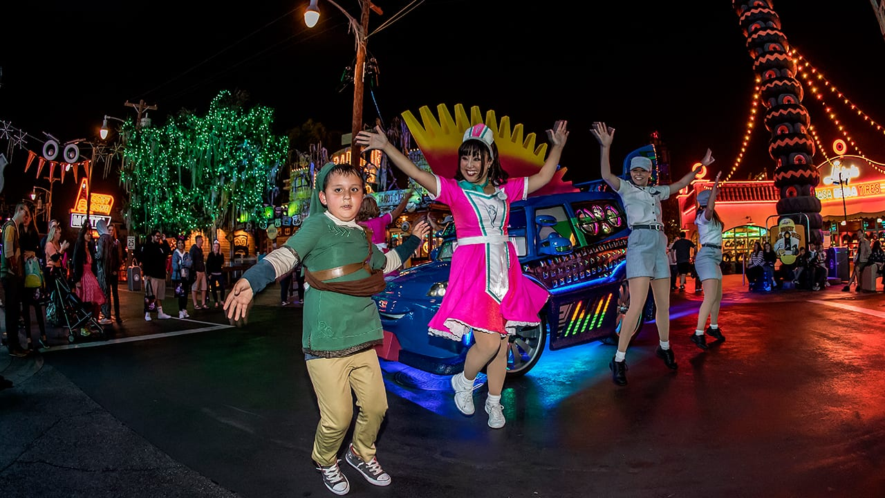 Readers Cruise Cars Land After Dark at Disney Parks Blog Haul-O-Ween Meet-Up in Disney California Adventure Park