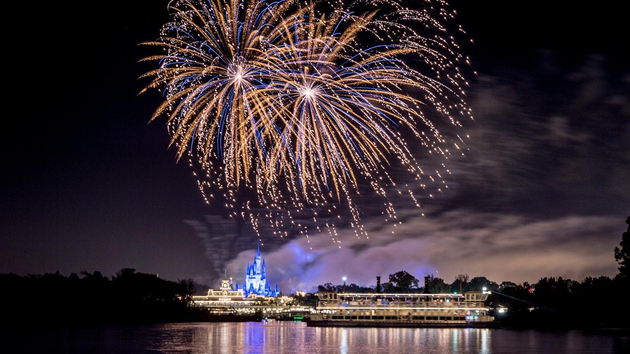 Ferrytale Fireworks Sparkling Dessert Cruise on Seven Seas Lagoon near Magic Kingdom Park