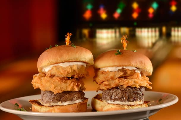 Burgers at Splitsville Luxury Lanes