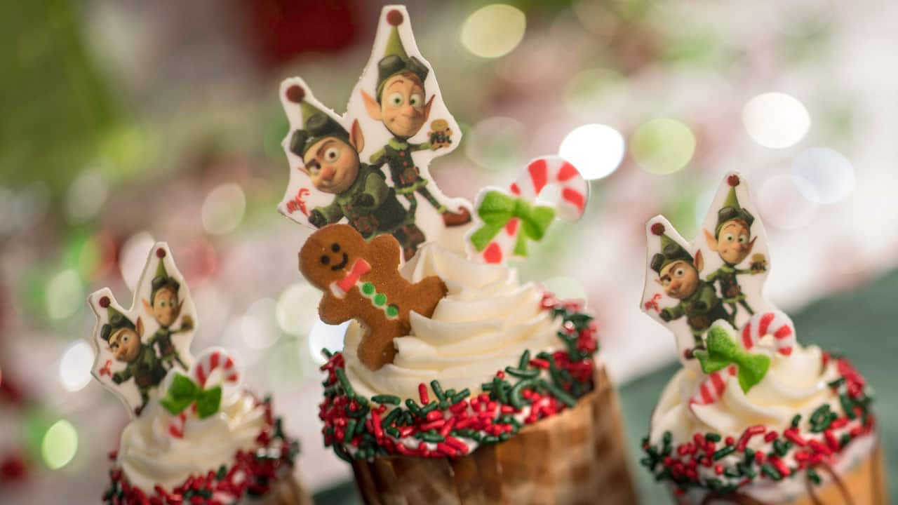 Prep and Landing Gingerbread Cupcakes at the Jingle Bell, Jingle BAM! Dessert Party at Disney's Hollywood Studios