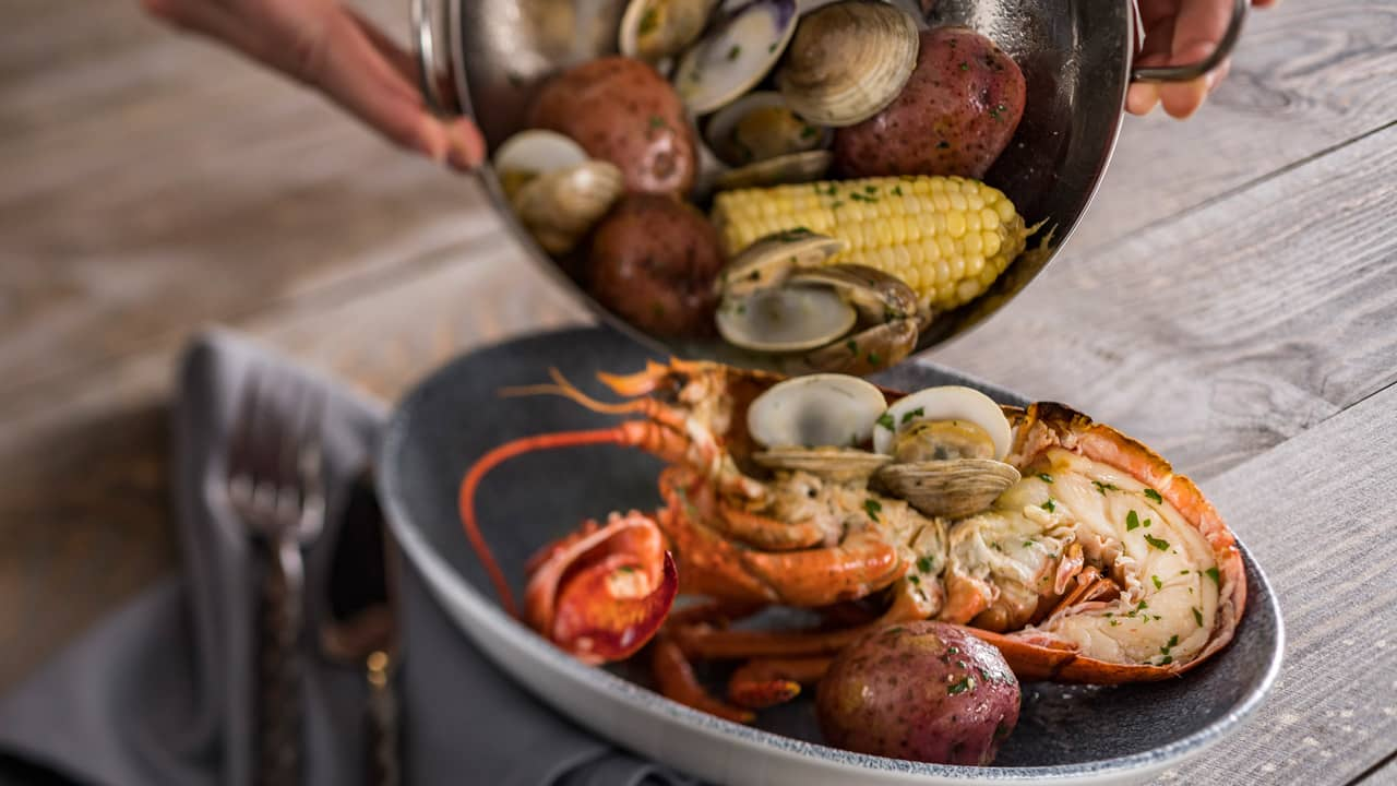 Coastal Clambake at Ale & Compass at Disney's Yacht Club Resort