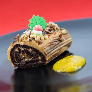 Chocolate Yule Log at Disney Festival of Holidays