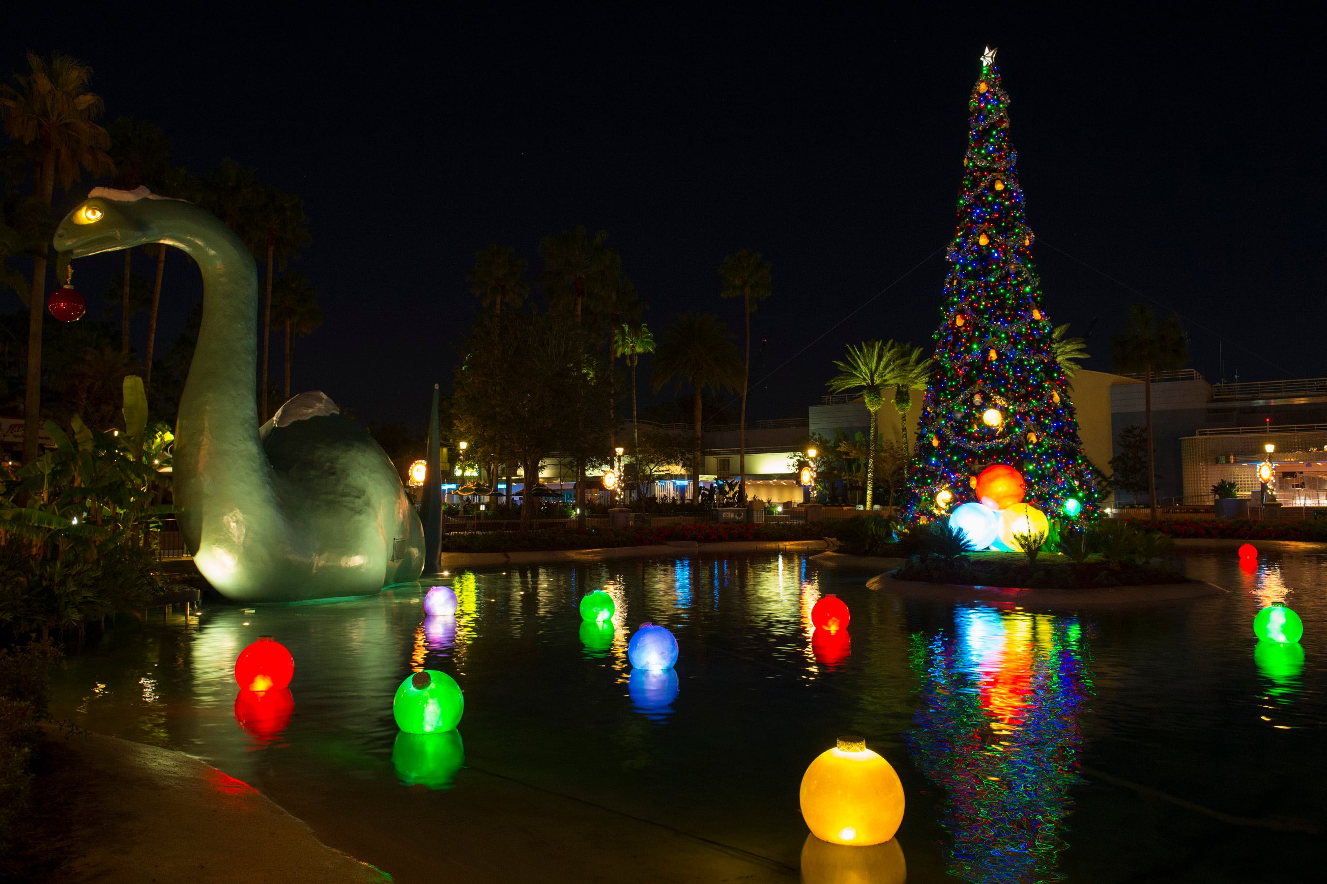Echo Lake at Disney's Hollywood Studios Glows for the Season