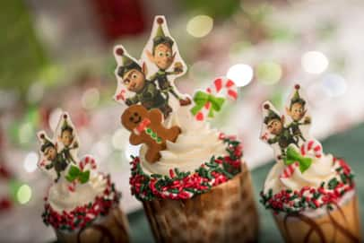 Prep and Landing Gingerbread Cupcakes at Disney's Hollywood Studios