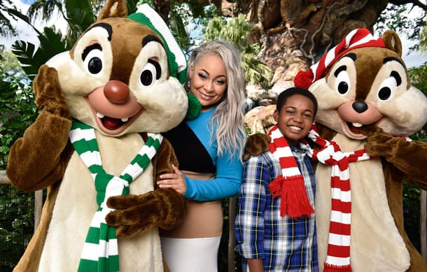raven symon and issac ryan brown kick off the disney parks presents a disney