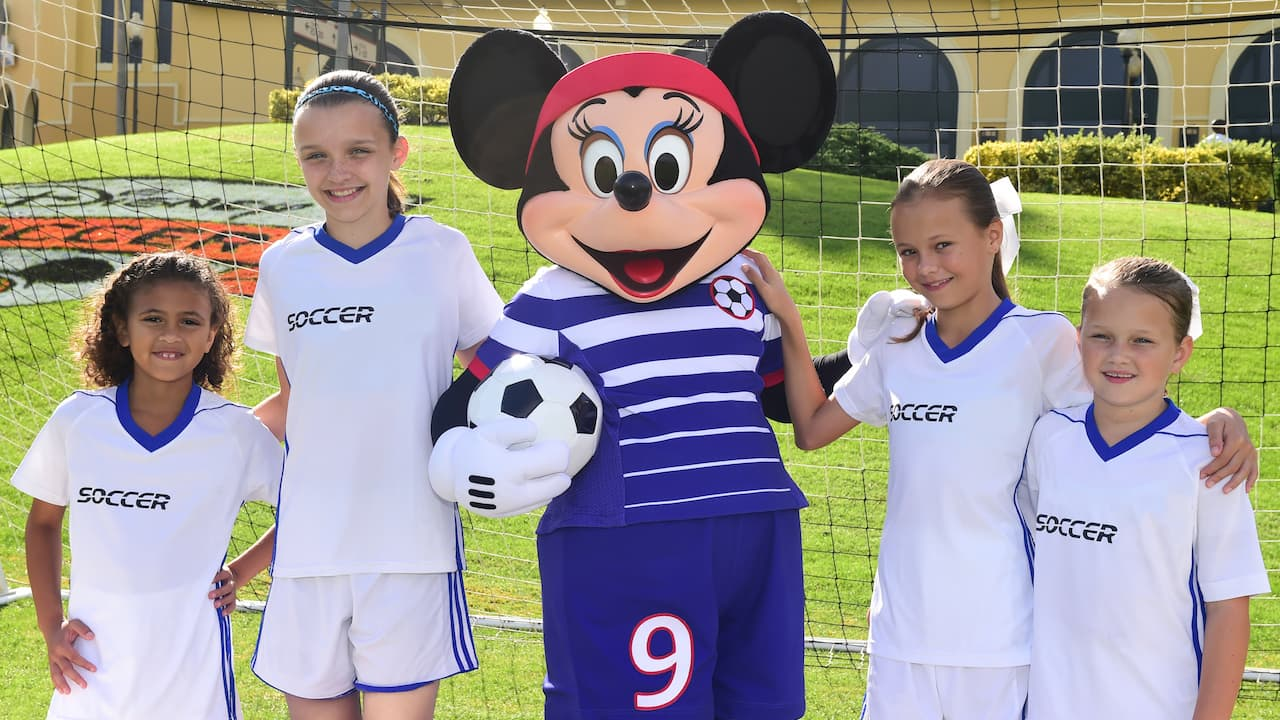 Minnie Mouse Sports New Soccer Uniform at 2017 Disney