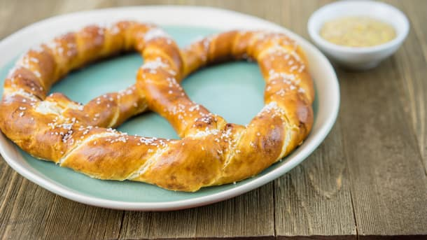Soft Bavarian Pretzel with Mustard at Disney Festival of Holidays