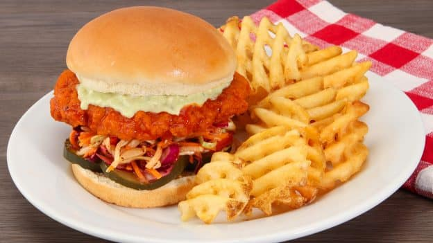 Buffalo Chicken Sandwich at Smokejumpers Grill in Disney California Adventure Park