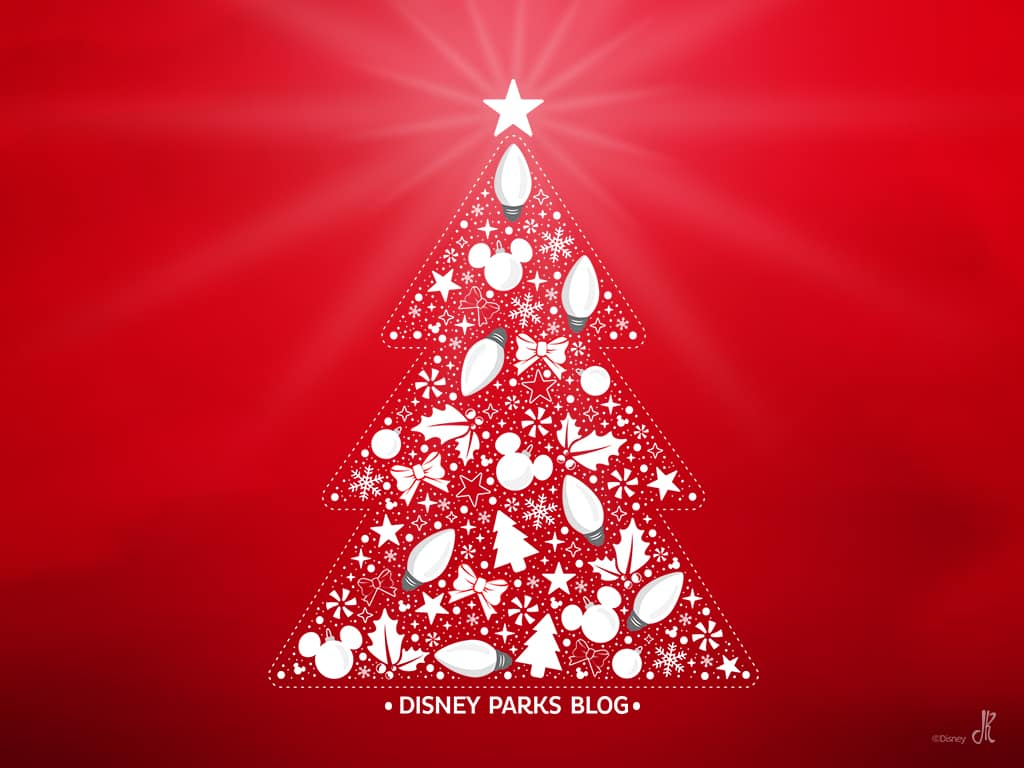 Disney Parks Blog Christmas Tree Holiday Wallpaper
