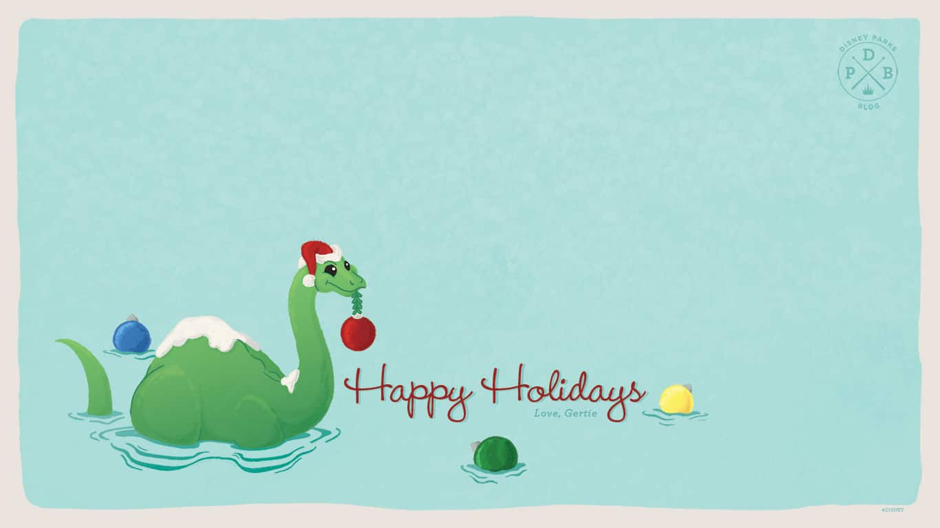"Disney Parks Blog Celebrate the Season with Our ""Gertie"" Inspired Wallpaper"