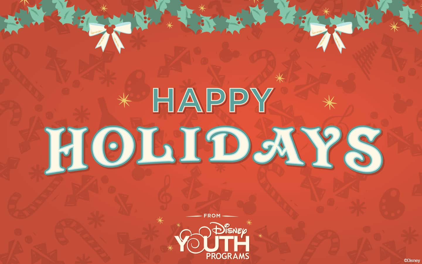 Disney Youth Programs Happy Holidays Wallpaper