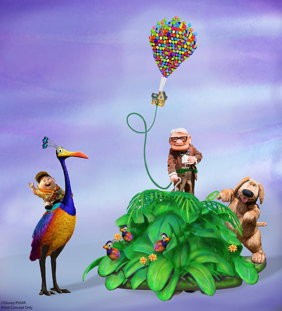 New 'UP' Story Element Coming to Pixar Play Parade at Disneyland Park
