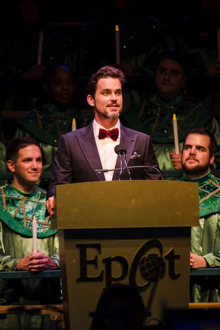 Matt Bomer narrates Candlelight Processional at Epcot