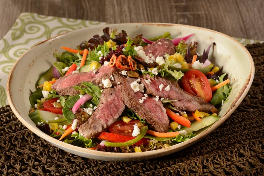 A Lot At Steak Salad at Jungle Navigation Co. Ltd. Skipper Canteen in Magic Kingdom Park