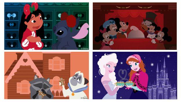 Holiday Disney Doodles