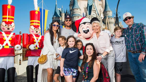 Matthew McConaughey with family at Magic Kingdom Park