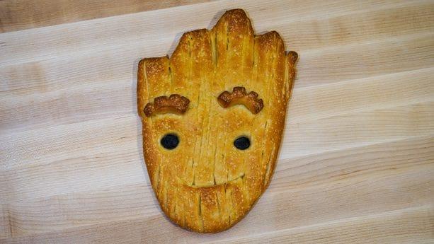 Groot Bread from Boudin Bread Cart in Disney California Adventure Park