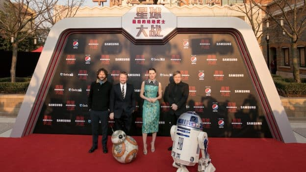 Star Wars: The Last Jedi Premiere at Shanghai Disney Resort