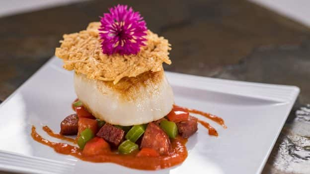 Scallop with Chorizo at Artist's Table at Epcot International Festival of the Arts