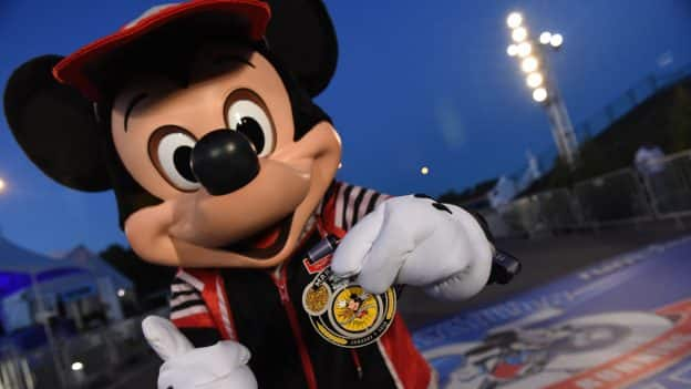 Mickey Mouse at the 25th Anniversary Walt Disney World Marathon Weekend presented by Cigna