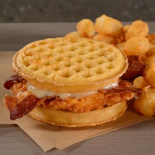 Chicken and Waffle Sandwich at The Arena ESPN Wide World of Sports