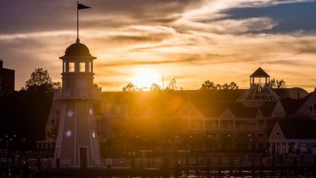 Sunset at Disney's Yacht Club Resort