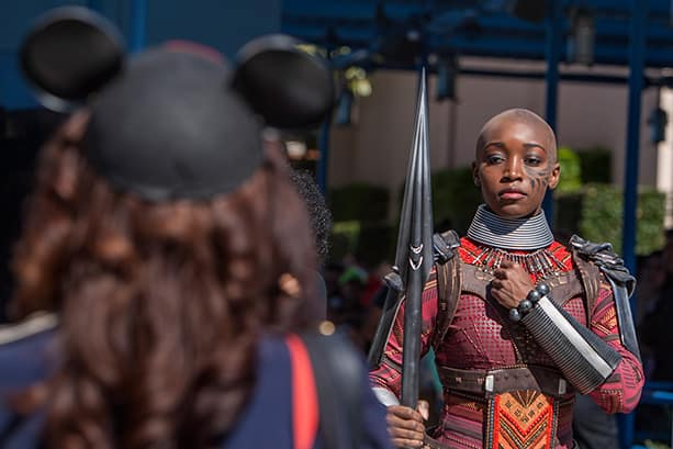 Black Panther and Dora Milaje at Disney California Adventure Park