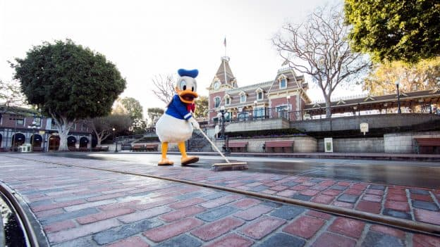 Donald Duck at Main Street USA Disneyland