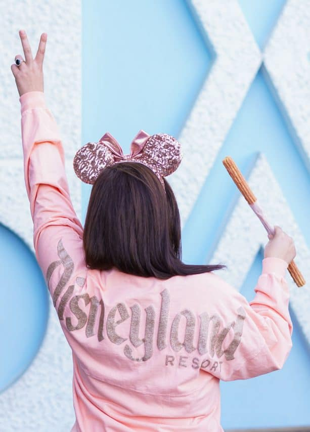 Strawberry Rose Gold Churro and Rose Gold Merchandise at Disneyland Park