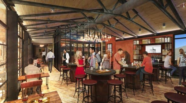 Wine Bar George Interior Rendering