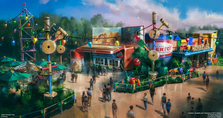 Woody's Lunch Box Rendering from Toy Story Land at Disney's Hollywood Studios