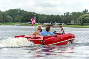 Amphicar ride - The BOATHOUSE at Disney Springs
