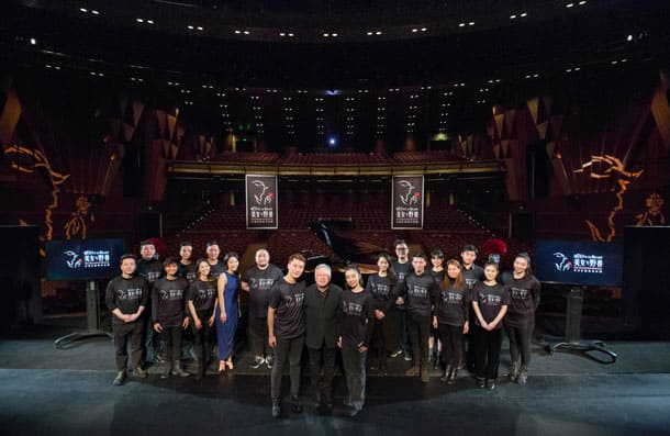 Alan Menken and Beauty and the Beast Mandarin production cast