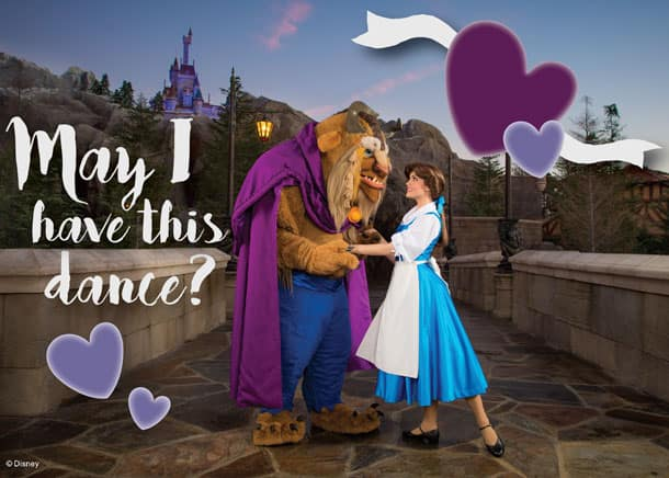 Valentine's Day Card - Belle and The Beast