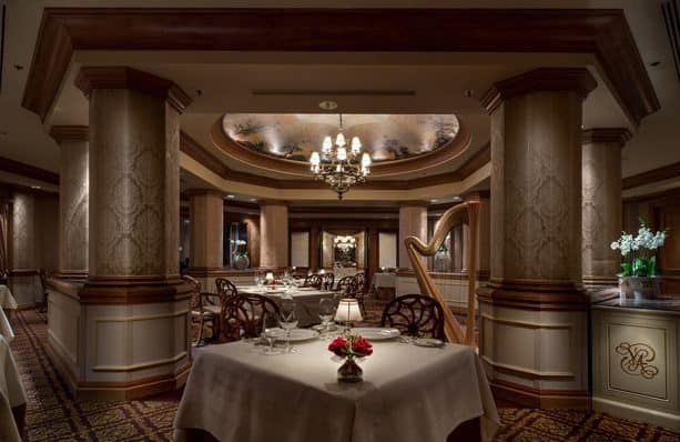 Interior dining room from Victoria & Albert's restaurant, the only AAA Five Diamond restaurant in Central Florida