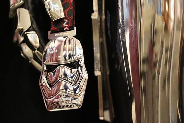 Star Wars Half Marathon Medal with Captain Phasma
