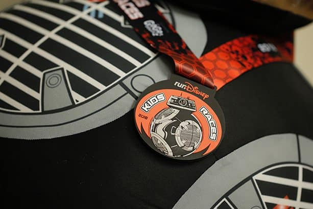 runDisney Kids Races Medal with BB-9