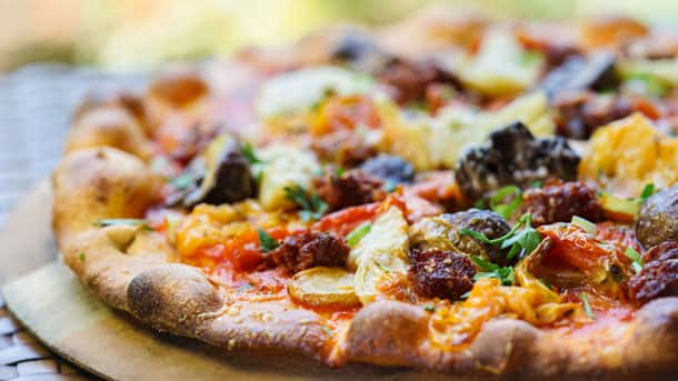 'Nduja Prosciutto Sausage Pizza at White Water Snacks at Disney's Grand Californian Hotel & Spa