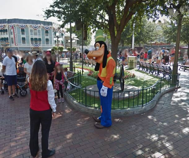 Google Street View -  Goofy at Disneyland
